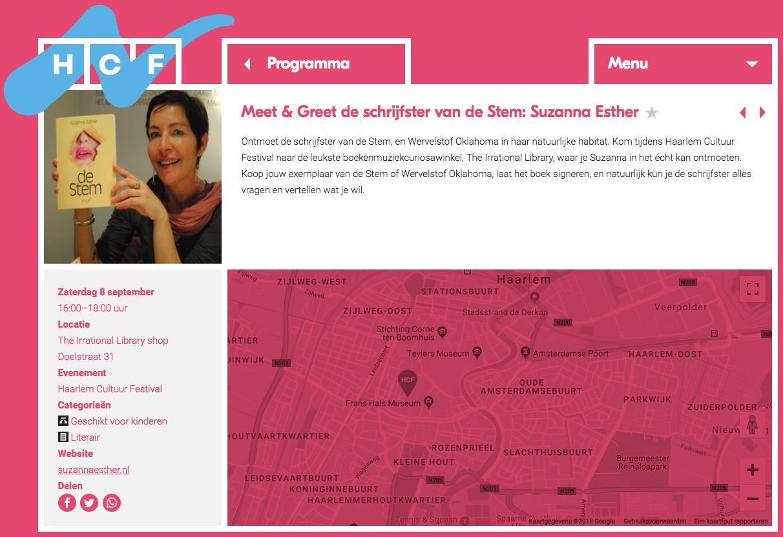 Meet & Greet opgenomen in Programma Haarlem Cultuur Festival 2018