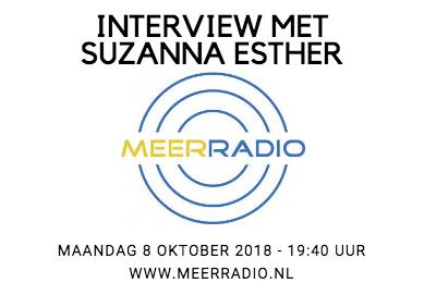 Vanavond: Interview met auteur Suzanna Esther op lokale radiozender MeerRadio