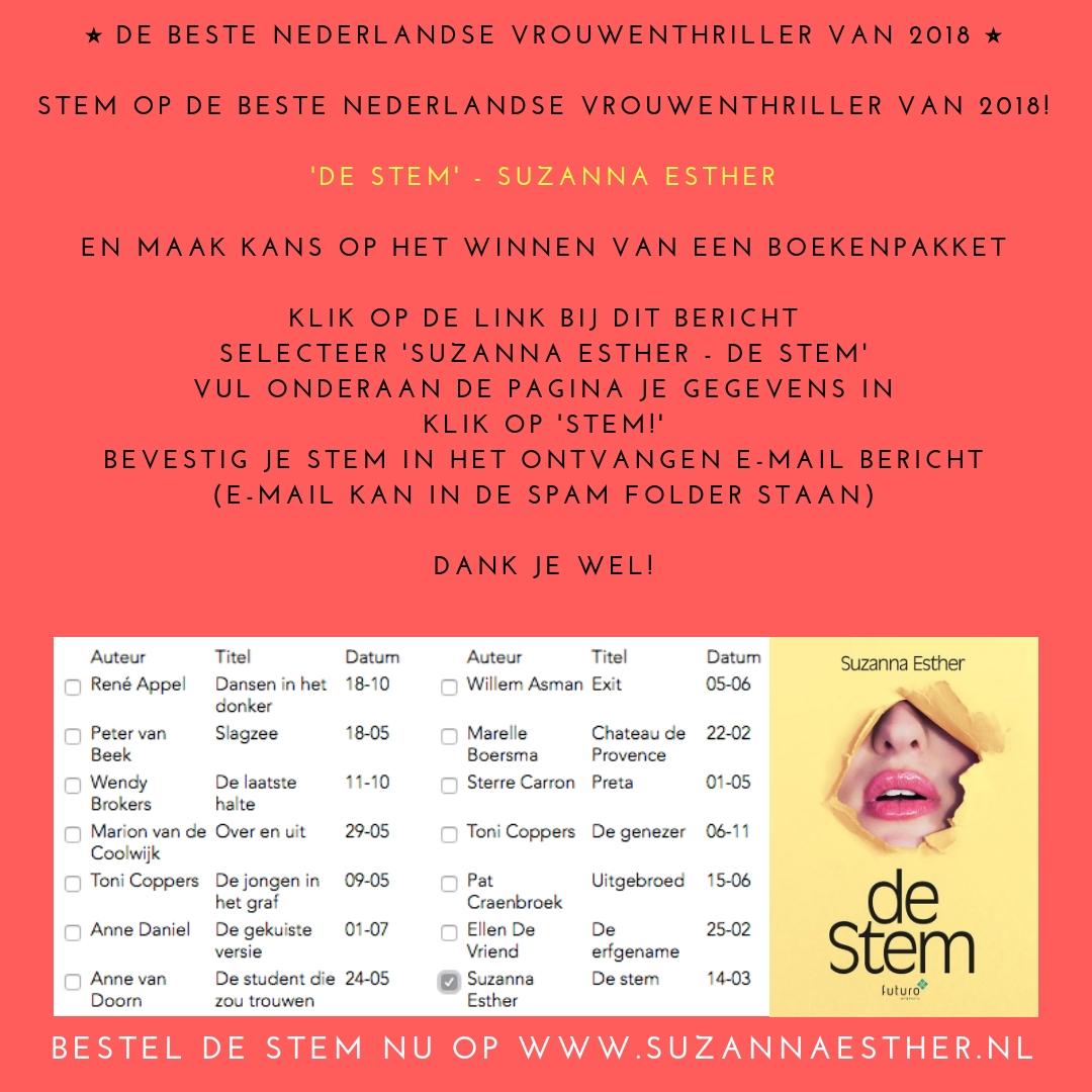 Beste Nederlandse Vrouwenthriller 2018